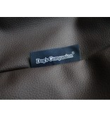 Dog's Companion® Hoes hondenbed small chocolade bruin leather look