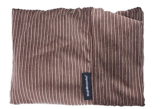 Dog's Companion® Hoes hondenbed extra small bruin/beige duo ribcord