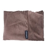 Hoes hondenbed small bruin/beige duo ribcord