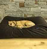 Dog's Companion® Hondenbed medium chocolade bruin ribcord