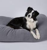 Dog's Companion® Hondenbed small muisgrijs ribcord
