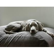 Hondenbed large muisgrijs ribcord