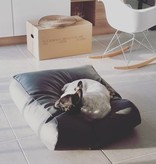 Dog's Companion® Hondenbed extra small zwart leather look