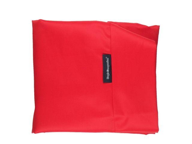 Hoes hondenbed rood vuilafstotende coating superlarge