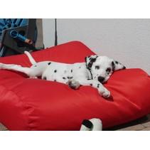 Hondenbed rood vuilafstotende coating superlarge