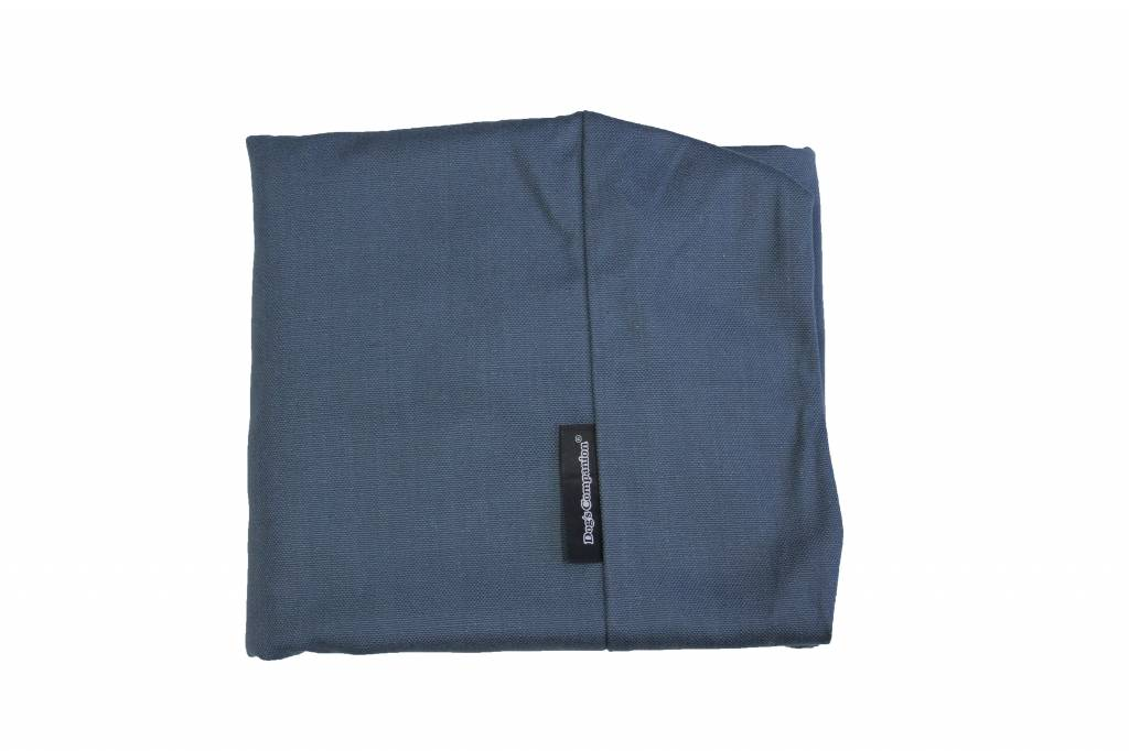 Hoes hondenbed rafblauw meubelstof Extra Small