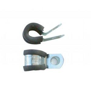 RVS Beugel 8 mm met rubber inlaag