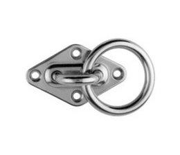 Mastplaat + ring RVS