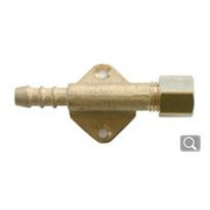 Rechte koppeling op een muurplaat 8 mm knel.