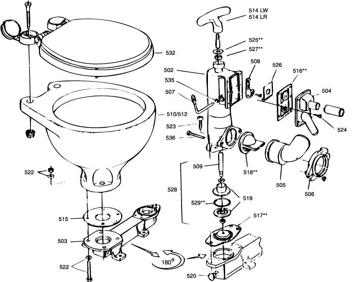 Onderdelen Rm 69 Toilet Bootschappen