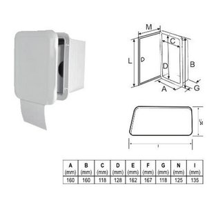 Toilet-rol houder met deur