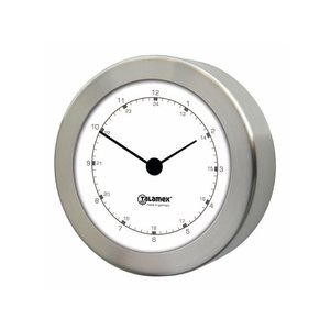 Scheepsklok. Barometer,Hygrometer RVS