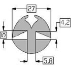 Raamrubber grijs 4 en 5 mm