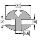 Raamrubber Grijs 5 en 6 mm