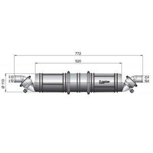 Vetus waterlock/ geluiddemper NLP3