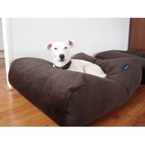 Dog's Companion® Hondenbed chocolade bruin ribcord