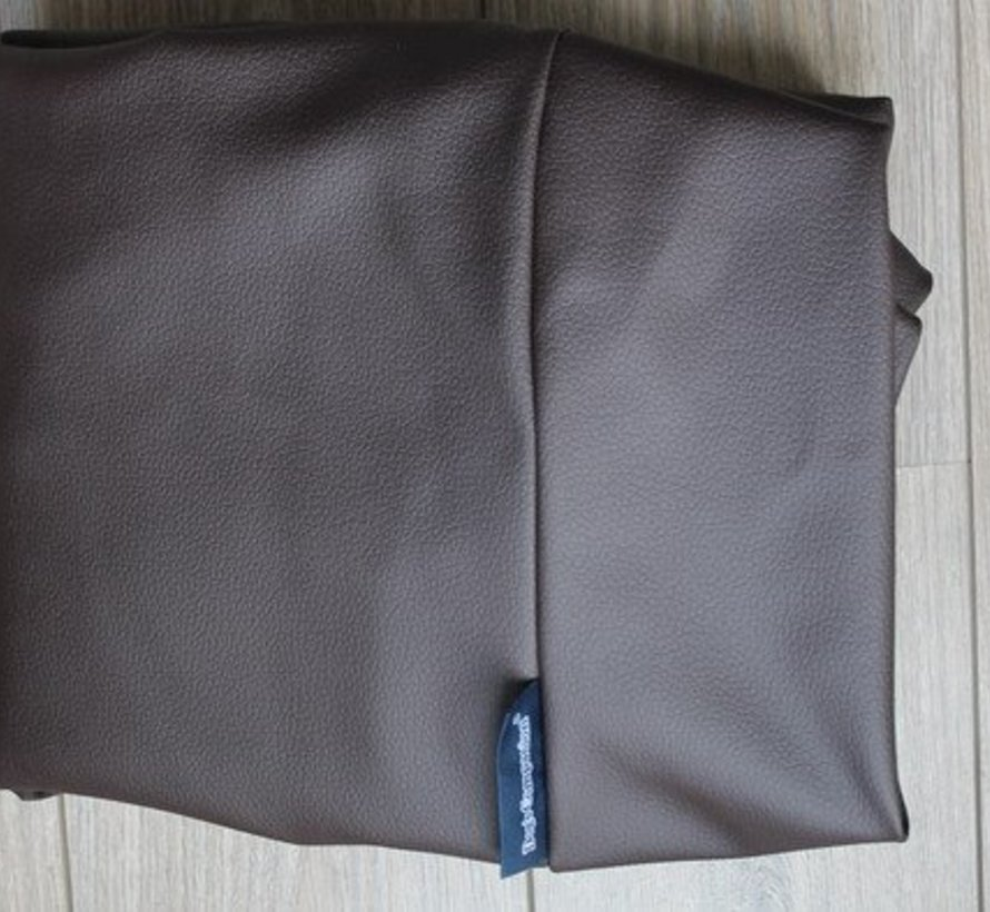 Hondenbed Chocolade Bruin Leather Look