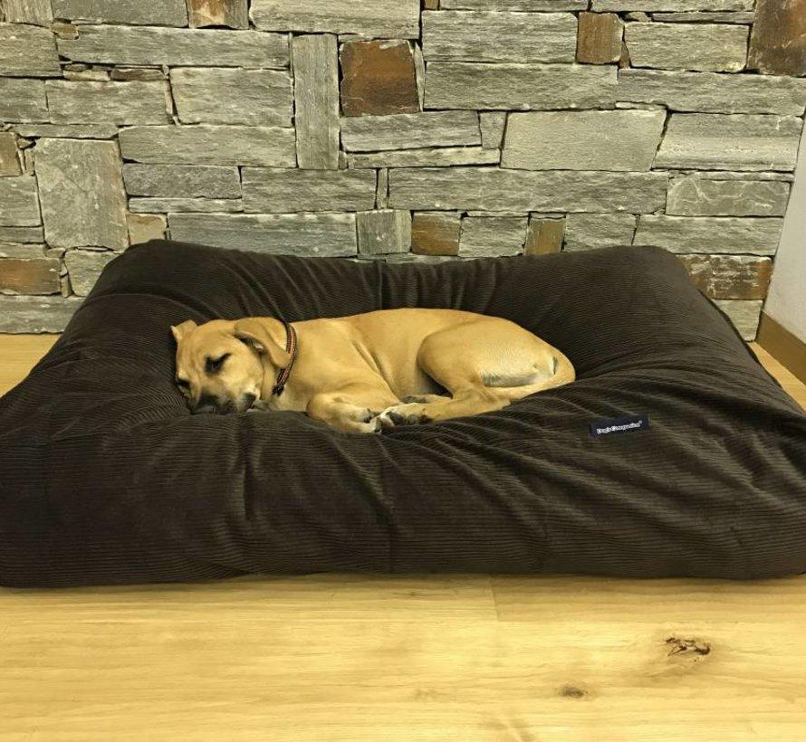 Hondenbed chocolade bruin ribcord