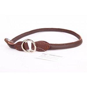 Leren honden sliphalsband
