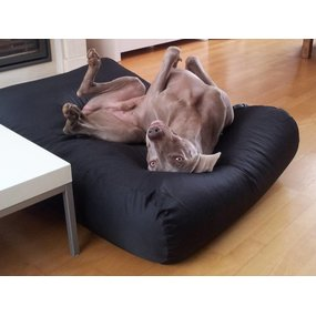Dog's Companion® Hundebett Schwarz (Beschichtet) Superlarge