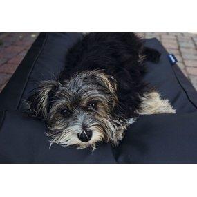 Dog's Companion® Hundebett Schwarz Leather Look Superlarge