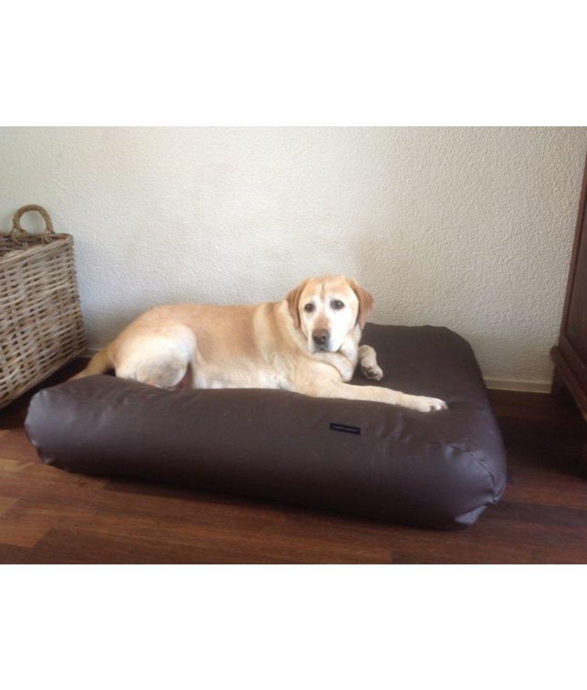 Dog's Companion® Hundebett large schokolade braun leather look