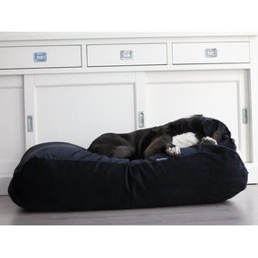 Dog's Companion® Hundebett Schwarz (Cord) Small