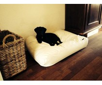 Dog's Companion® Dog bed ivory leather look