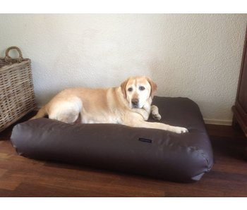 Dog's Companion® Hundebett schokolade bruin leather look
