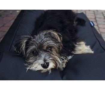 Dog's Companion® Hundebett Schwarz Leather Look