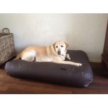 Lit pour chien chocolat leather look