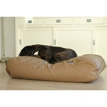 Lit pour chien Taupe leather look