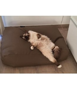 Dog's Companion Cat bed taupe leather look