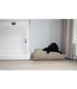 Dog's Companion Dog bed bench cushion beige (65 x 50 x 10 cm)