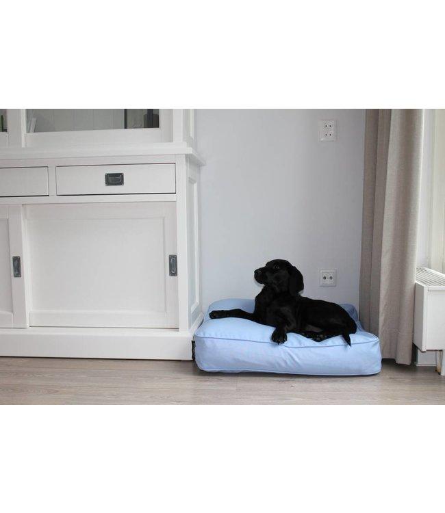 Dog's Companion® Dog bed bench cushion light blue (68 x 62 x 10 cm)