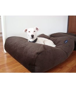 Dog's Companion Hondenbed Chocolade Bruin Ribcord Small