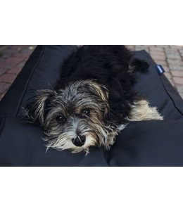 Dog's Companion® Hundebett Medium Schwarz leather look