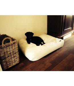 Dog's Companion Dog bed ivory leather look Small