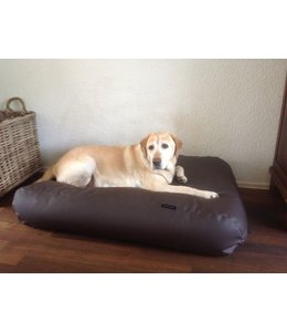 Dog's Companion® Hundebett Medium schokolade braun leather look