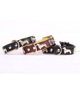 Dog's Companion® Lederhalsband Dackel