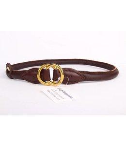Lederhalsband (round collar brass)