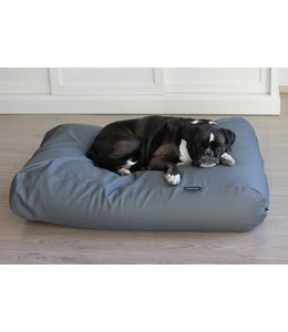 Dog's Companion Dog bed mouse grey leather look Small