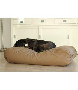 Dog's Companion® Dog bed Medium taupe leather look