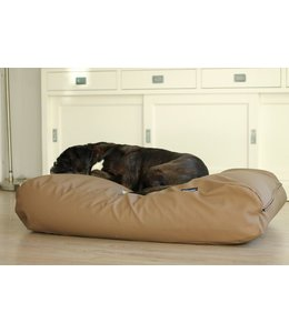Dog's Companion Dog bed taupe leather look Superlarge