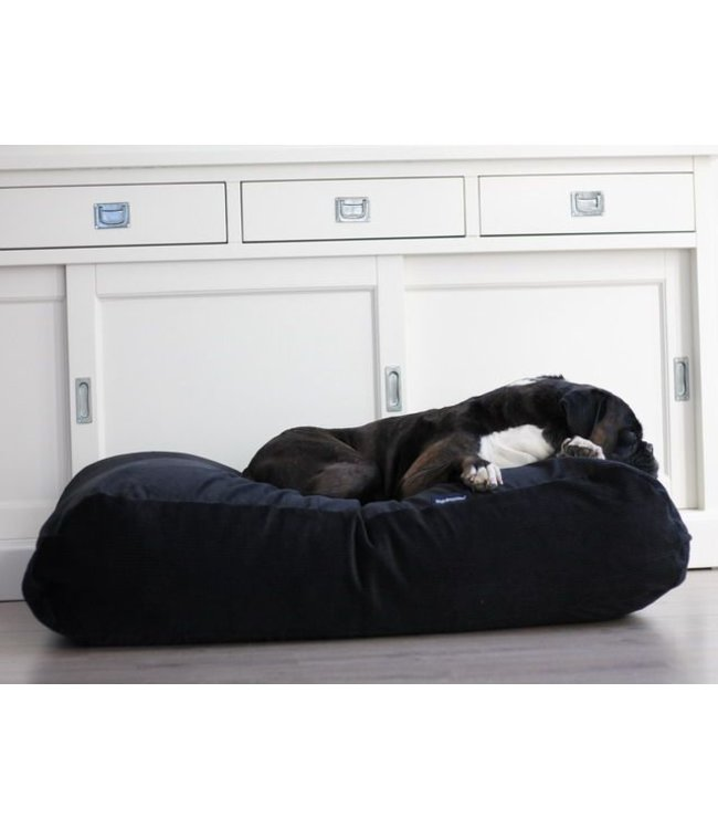 Dog's Companion® Dog bed Black (Corduroy) Extra Small