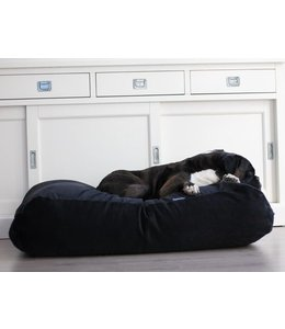 Dog's Companion® Hundebett Medium Schwarz (Cord)