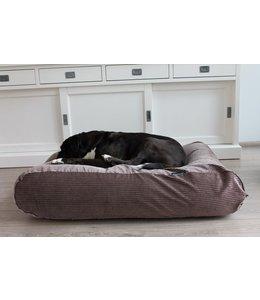 Dog's Companion® Hundebett Braun-Beige (Cord) Extra Small