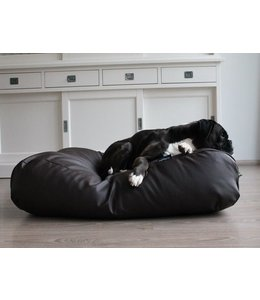 Dog's Companion Dog bed chocolate brown leather look Small
