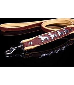 Dog's Companion® Leather dog leash (Dachshund)