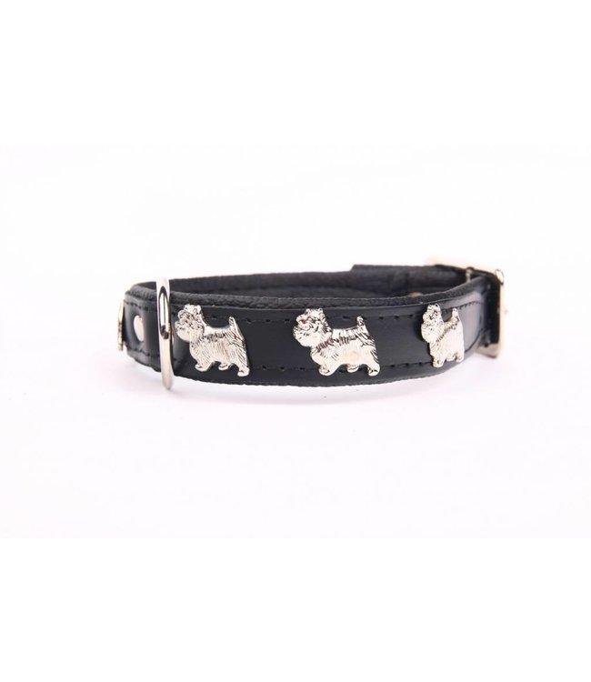 Dog's Companion® Leather dog collar Westie